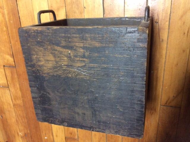 Wood battery box