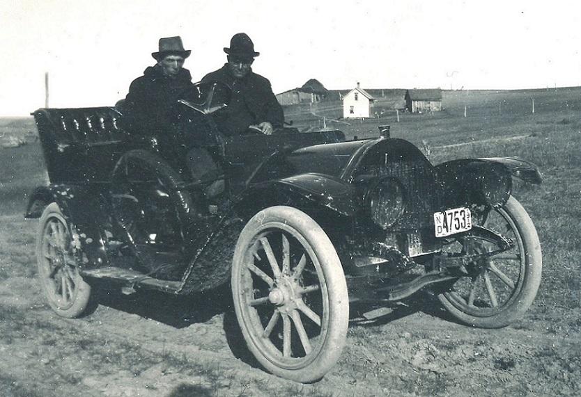 Automobile in North Dakota, 1912.