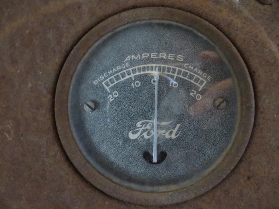 A close-up of the gauge