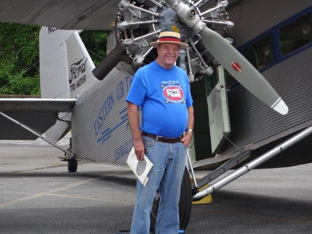 with the trimotor when it came to Knoxville this month.