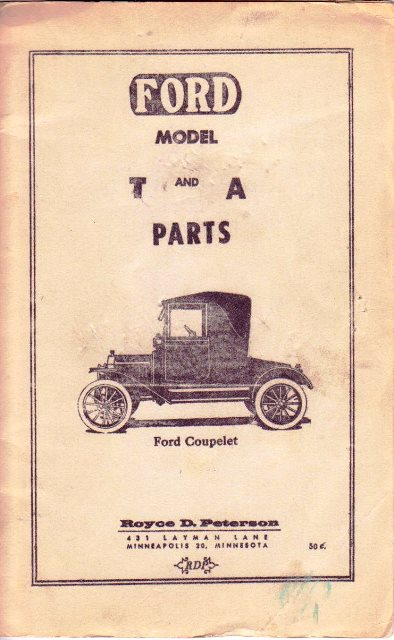 Model T Ford Forum: Old vendors from 1970