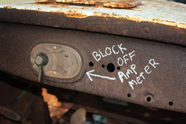 ammeter block off