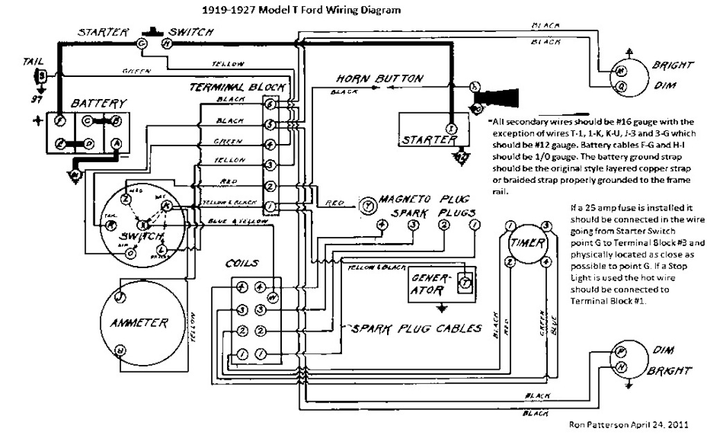 model t ford forum wiring diagrams rh mtfca com 1925 model t ford wiring diagram ford model t ignition switch wiring diagram