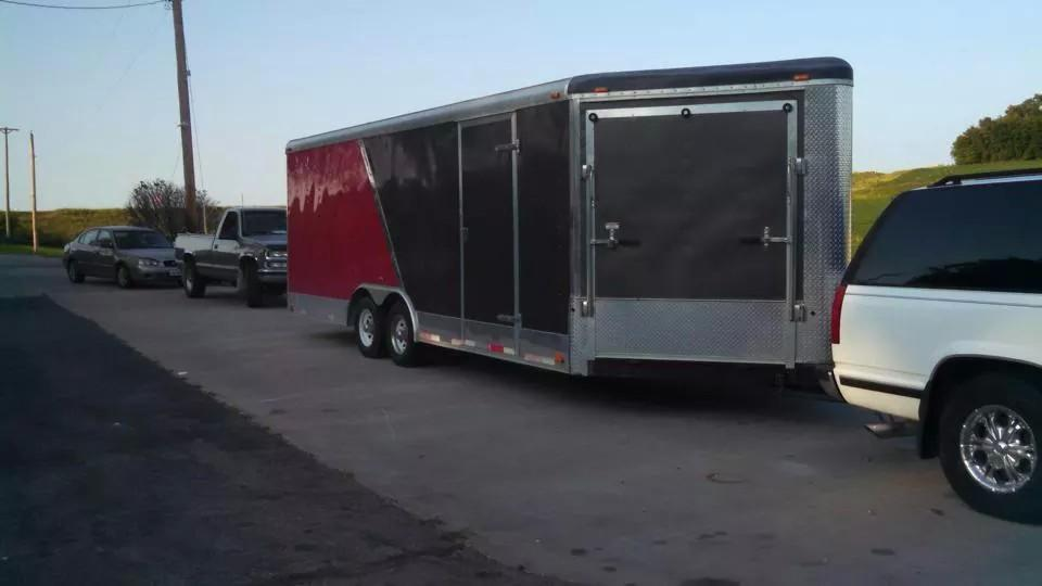 Trailer t containing the stolen T