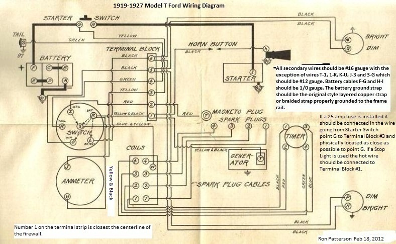 Model T Ford Forum  Anyone Have Detailed  Colored Wiring