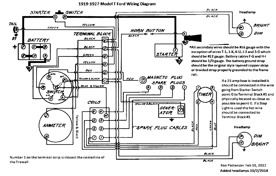 model t ford forum: ammeter reading 1927 model t wiring diagram #5