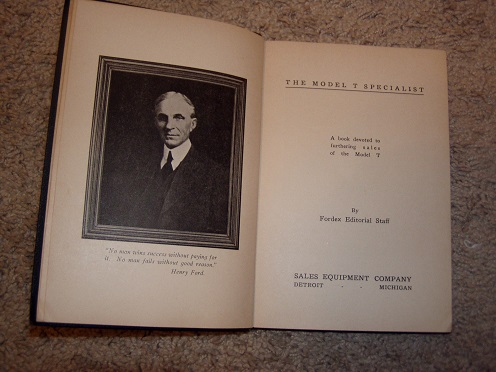 Original 1925 hardcover Fordex manual