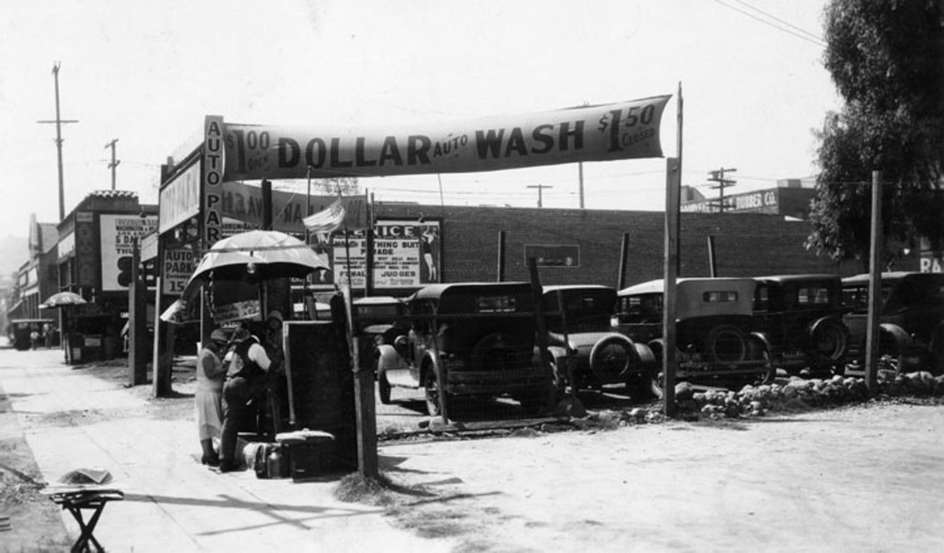 model t ford forum old photo car wash a t western 11th in los angeles 1925
