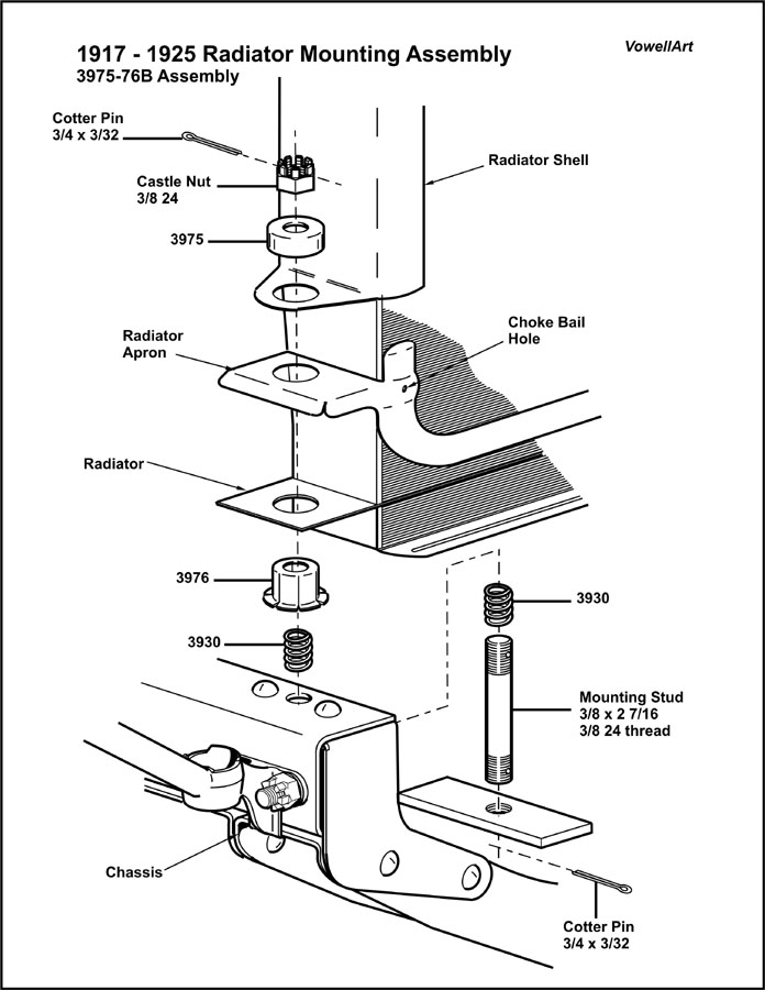 how does a car radiator work diagram