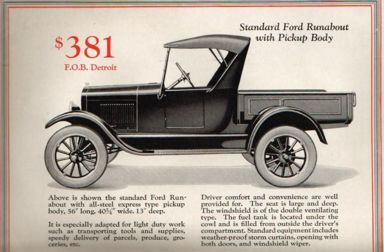 Model T Ford Forum T Pickup Box Question