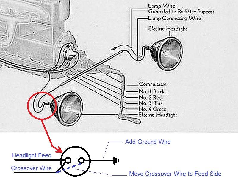 model a ford generator wiring diagram model t ford forum: head lights model a ford headlight wiring