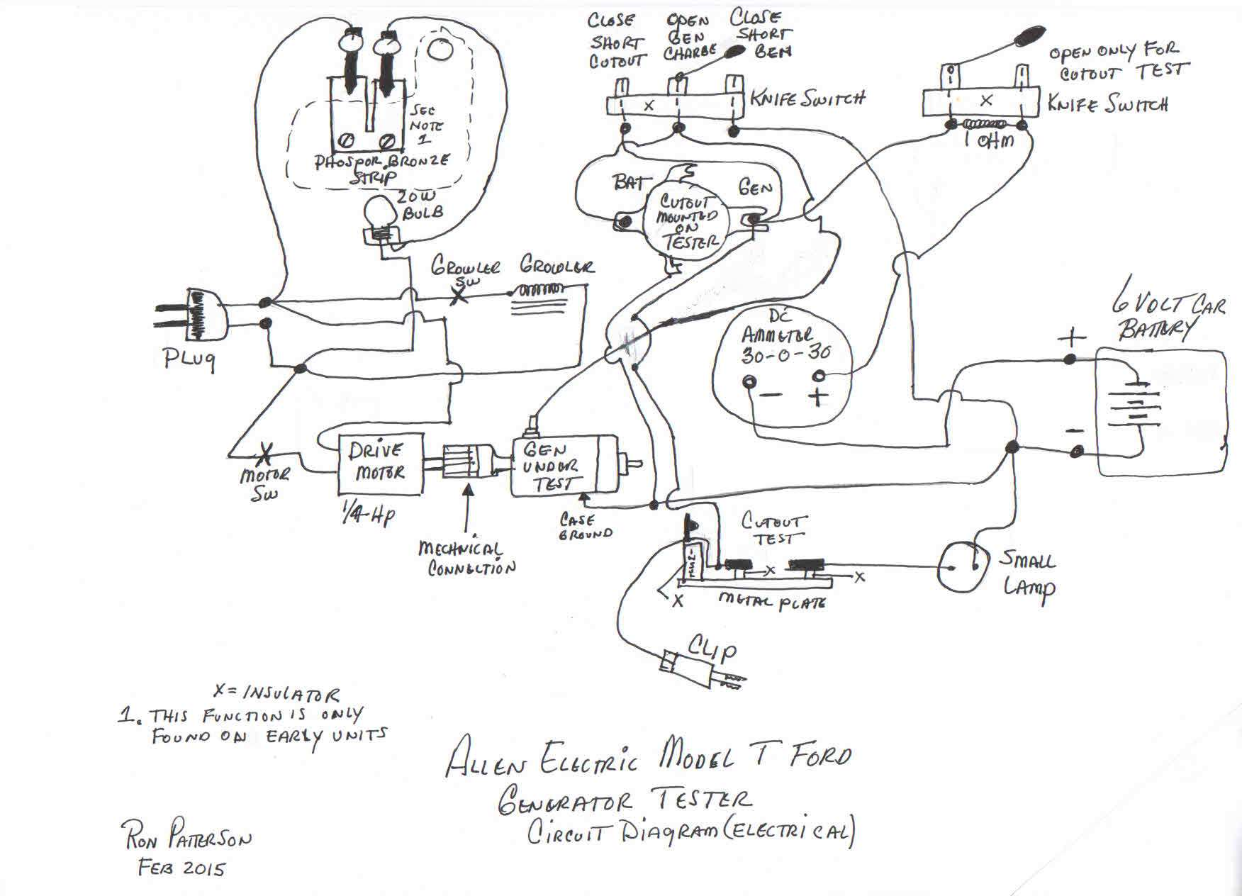 model t ford forum: allen electric generator tester wiring ... model a wiring schematics 1928 ford tudor model a wiring diagram #14