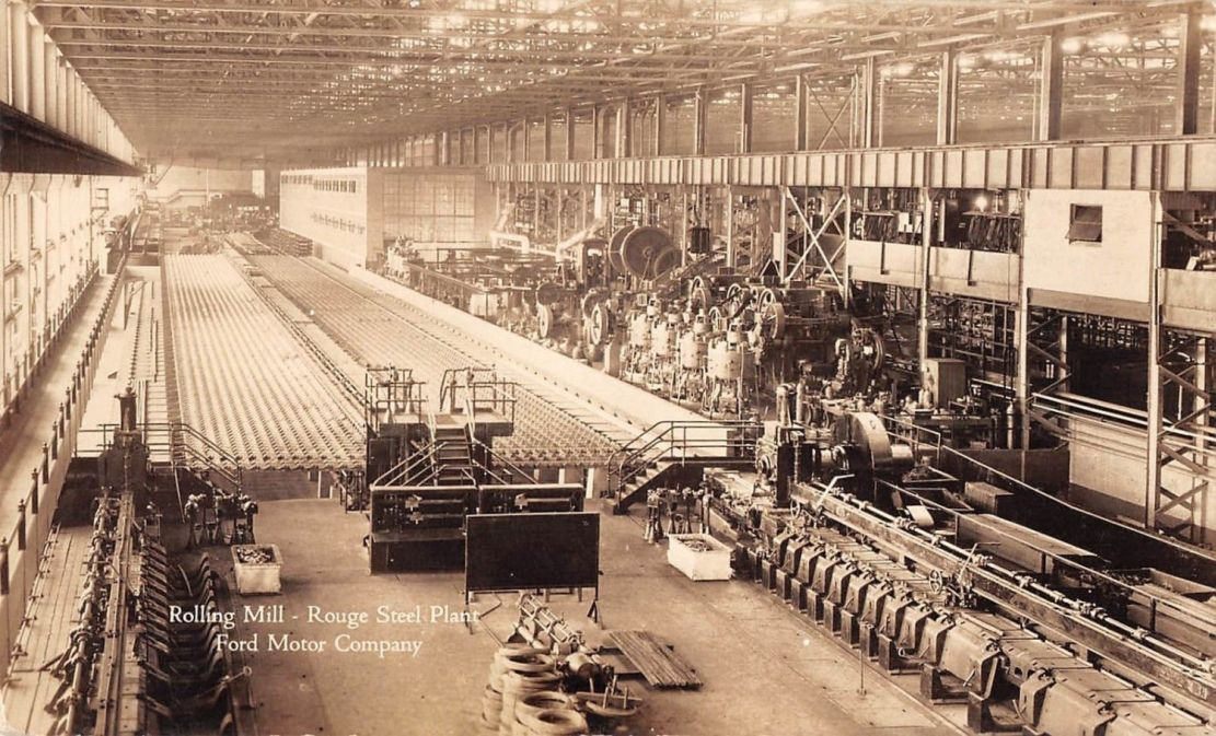 Don Davis Ford >> Model T Ford Forum: Old Photo - Rolling Mill - Rouge Steel Plant