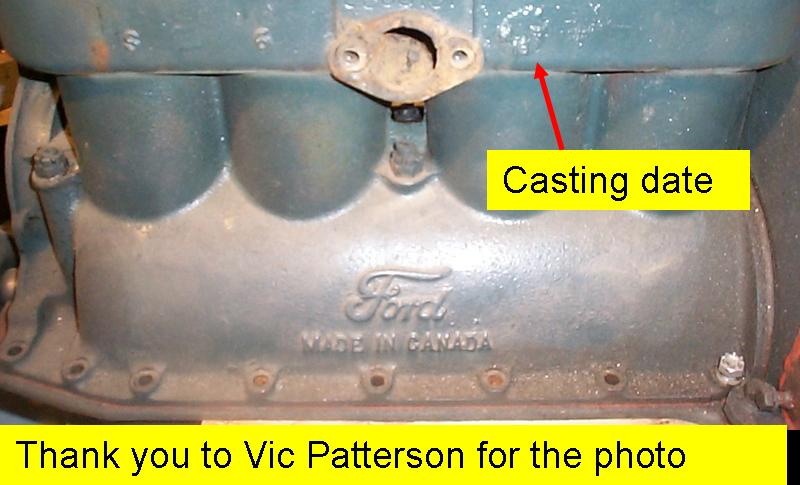 on Ford Engine Block Serial Number Location