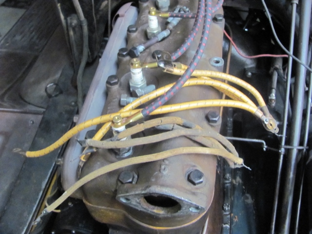 model t ford forum spark plug wire lengths why have they grown? Model T Coil Diagram had too an old set of period wires to compare, the measure is from center of terminal hole to terminal hole, the repro yellow are 9\