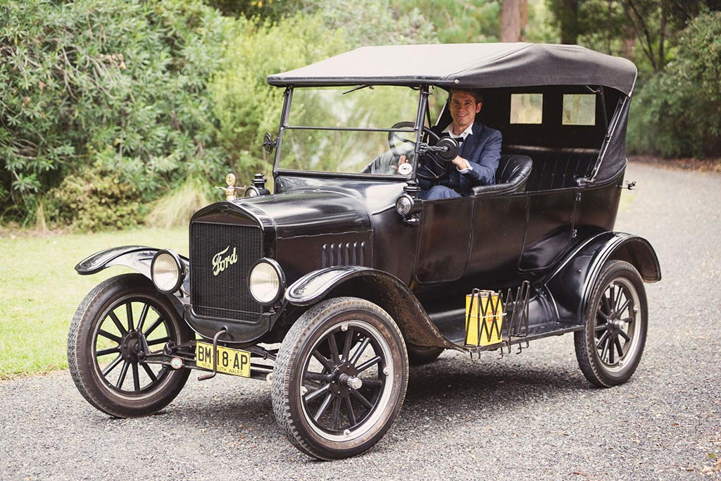 My Model T, photographed at a recent wedding I drove the bride to...