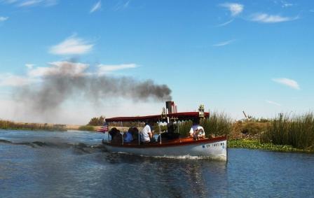 steamboat on Sacramento delta
