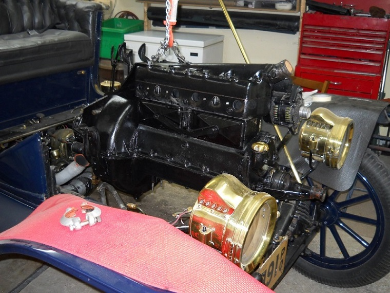 engine in chassis