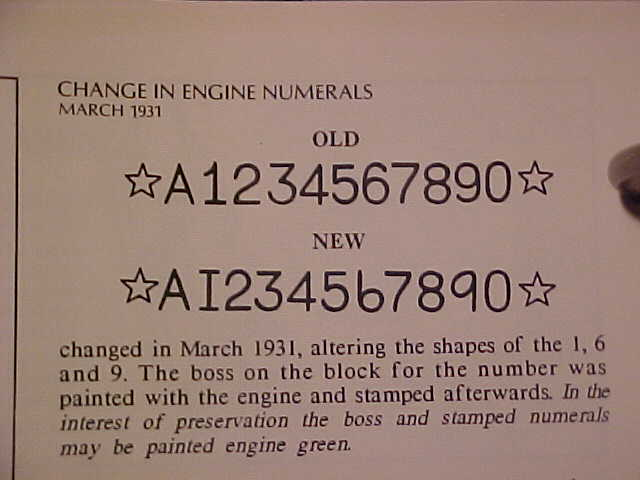 Model A number stamps