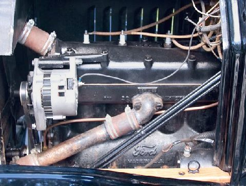 Model t ford forum alternator problem my belt driven alternator has always shown a 2 amp discharge when the engine is idling i can center the needle or send it into the positive side of the publicscrutiny Choice Image