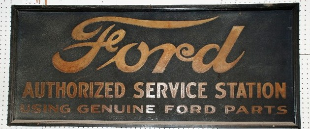 EARLY FORD DEALER SIGN