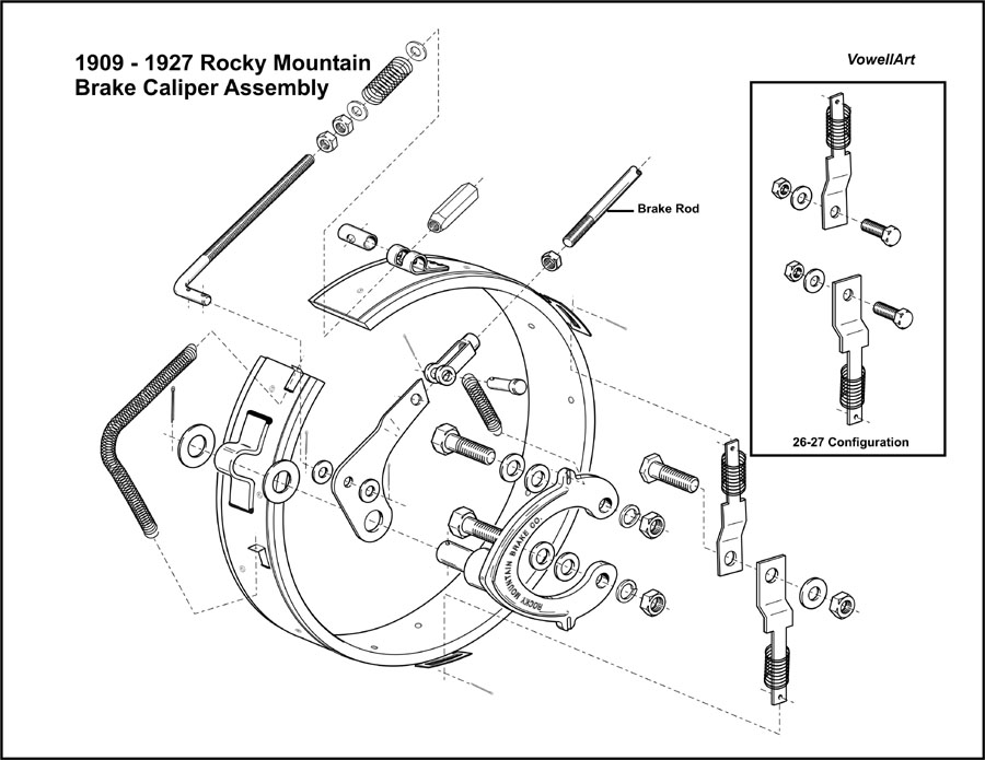 Model T Ford Forum Rocky Mountain Brake Assembly