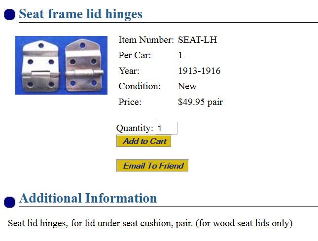 seat hinge