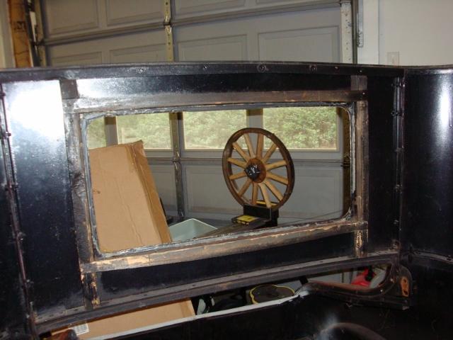 27 rear window wood frame