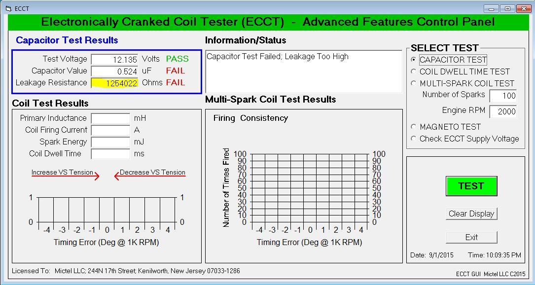 ECCT Capacitor Leakage Test
