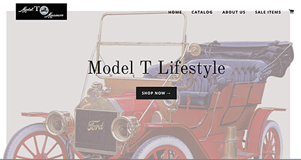 Online Store Home Page