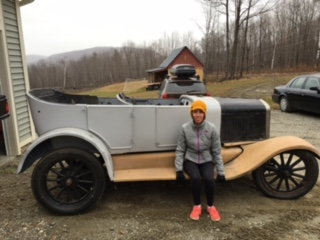 My wife right after she saw the car for the first time