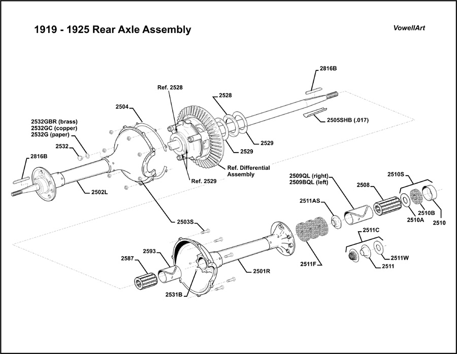 Model    T Ford Forum    19191925 Rear Axle Assembly