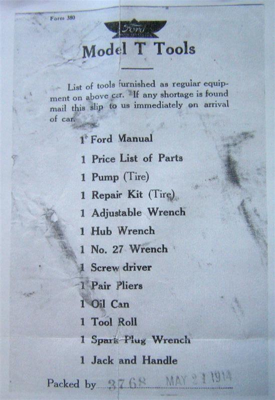 1914 tool list