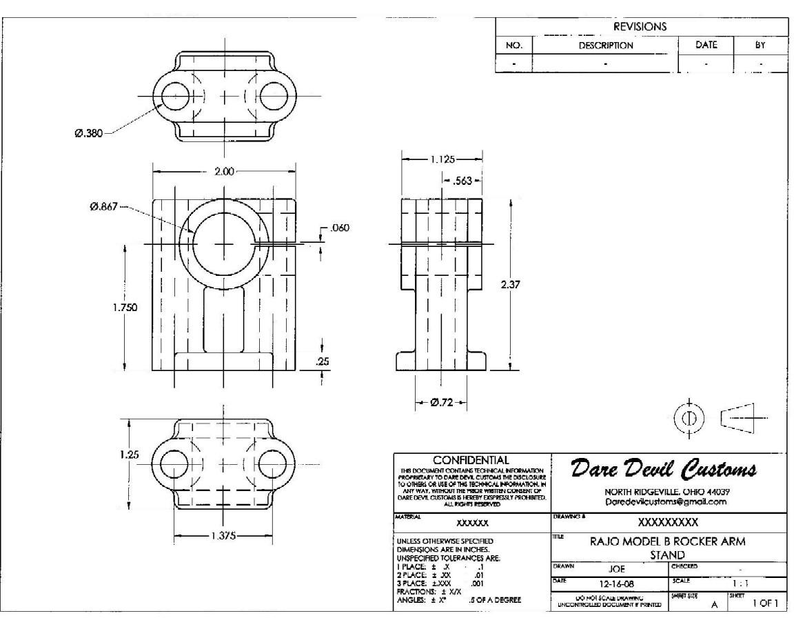 Model T Ford Forum: Model B Rajo Rocker Arm Stand AutoCAD drawings