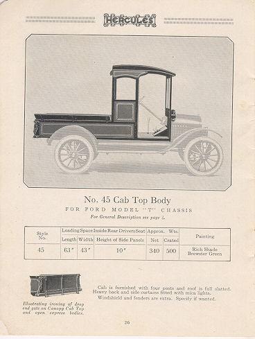 No. 45 Cab Top Body