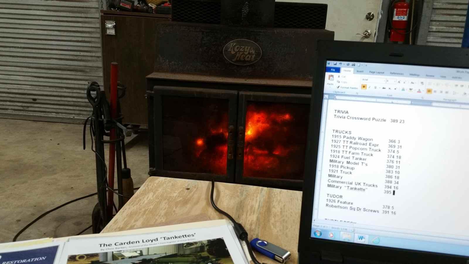 Warm spot in my shop...