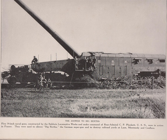 WWI  T's and railroad gun