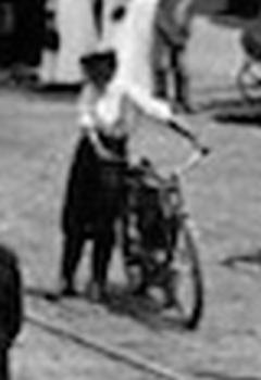 Cool Bike and female owner