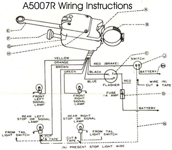 Turn Signal Wiring Diagrams - Wiring Diagram Perfomance on universal engine wiring diagram, mustang sequential flasher diagram, universal wiring diagram everlasting, 58 t-bird turn signal switch diagram, universal wiper motor wiring diagram, simple turn signal diagram, street rod turn signal diagram, universal turn signals for cars, attitude indicator diagram, chevy turn signal diagram, flhx turn signal wire diagram, circuit diagram, empi universal turn signal switch diagram, 90 town car turn signal diagram, 7-wire turn signal diagram,