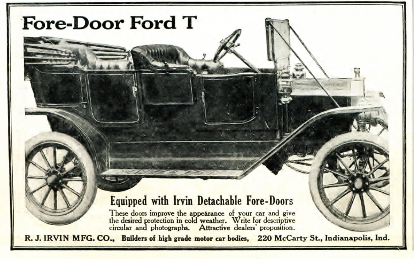 Do you think this would have inspired the fore doors provided on the 12u0027s? & Model T Ford Forum: Fore door for Fords-Photo