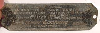 1926 Tudor patent data plate