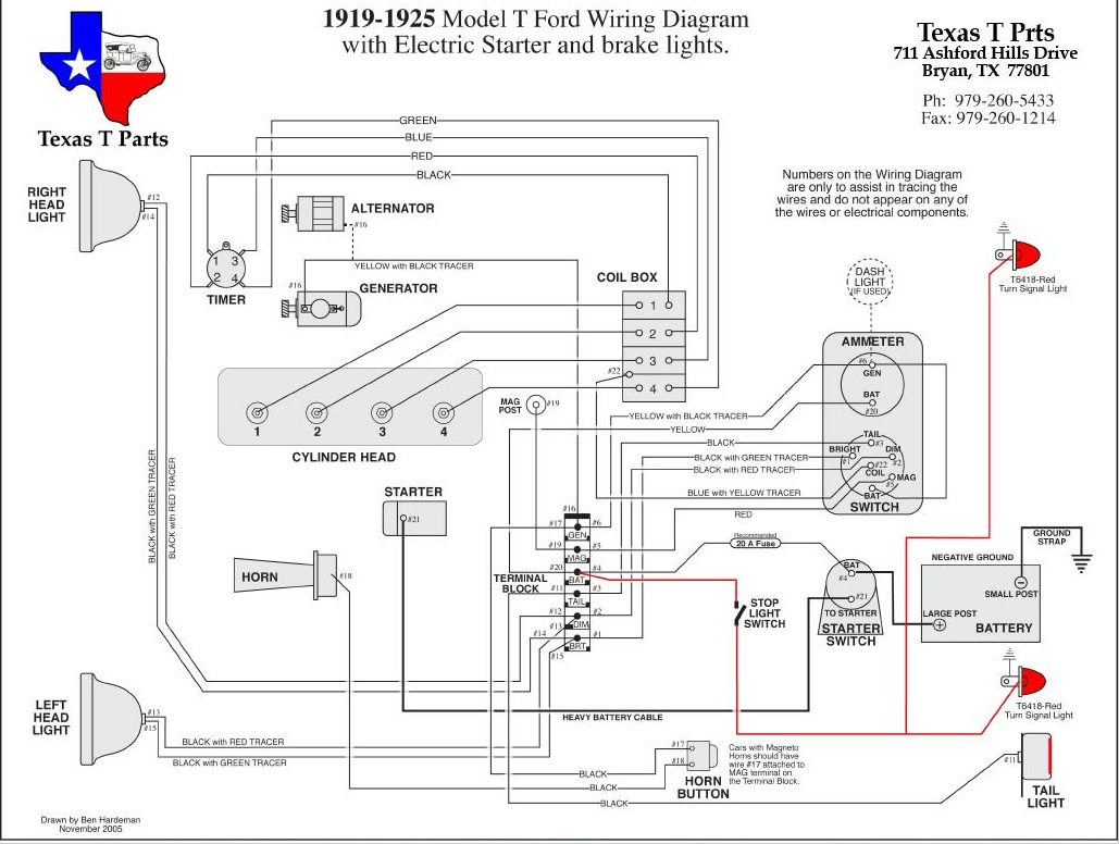 1923 model t wiring diagram