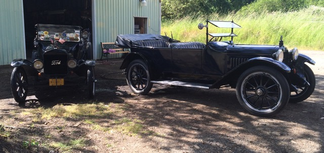 Tin Tillie our 1919 touring  & Whooper our 1917 Hupmobile model N