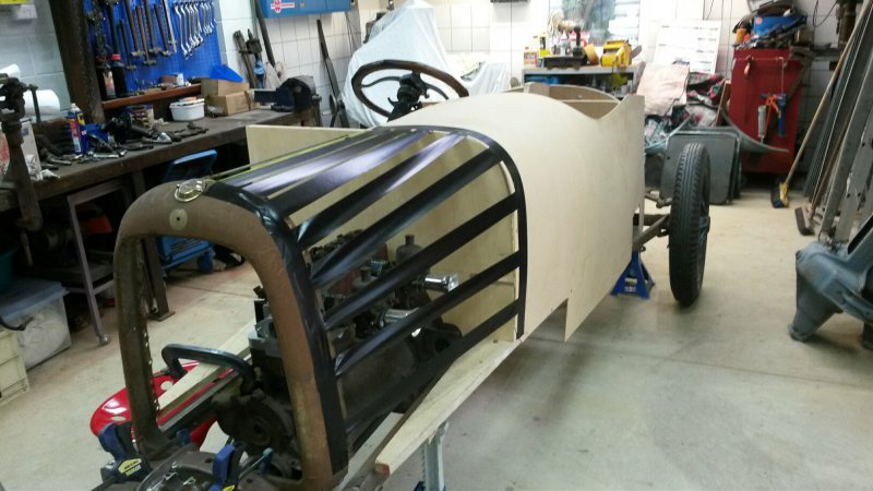 1919 Mercury replica Body pattern progress