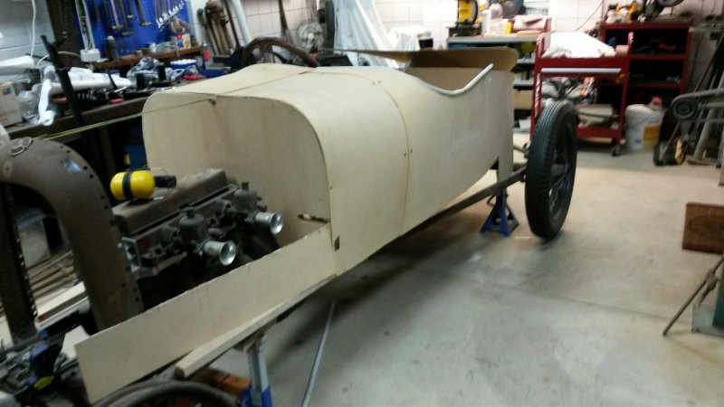 1919 Mercury body replica progress