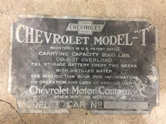 Model T Ford Forum Ot Chevrolet Model T Vin Plate