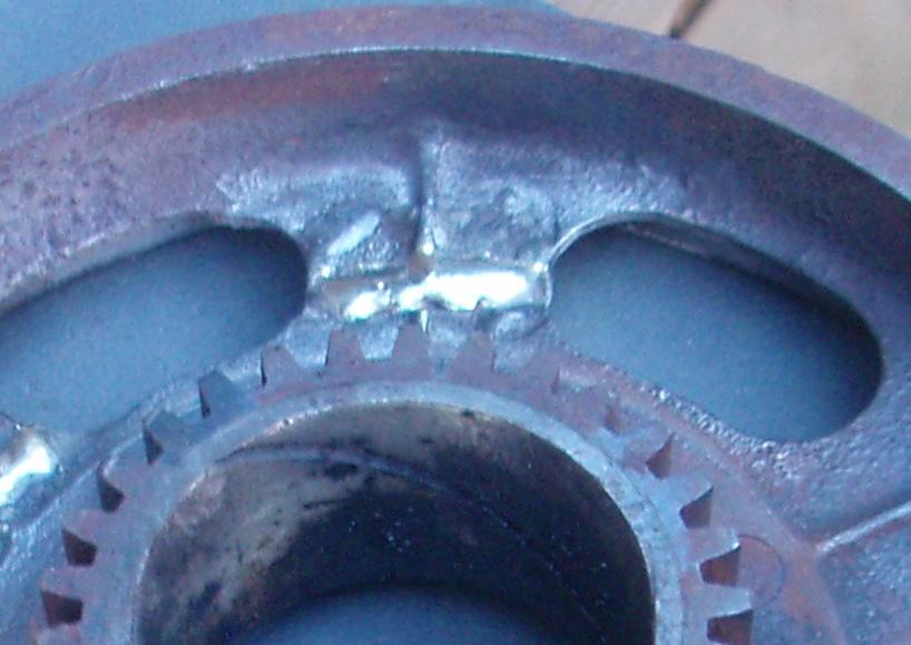 Reverse drum weld