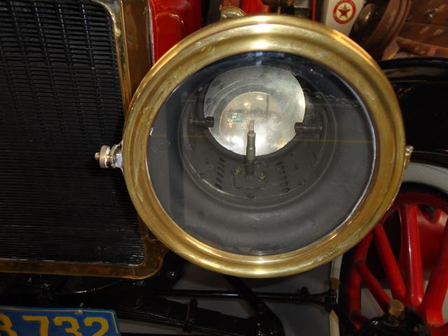 front of headlight