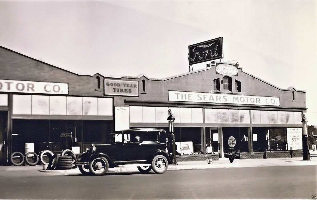 Model T Ford Forum: Old Photo - The Sears Co., FORD Dealership ...