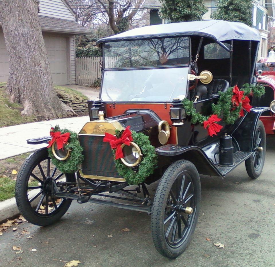 Model T at Christmas